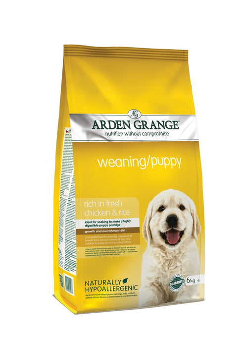 Arden Grange Premium Weaning Puppy Dry Dog Food - Chicken & Rice - 6kg - PetMonkey