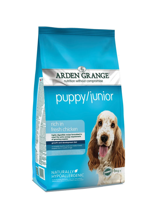 Arden Grange Puppy / Junior Dry Dog Food - Chicken - 6kg - PetMonkey