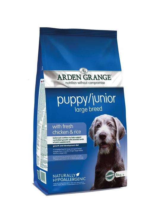 Arden Grange Puppy / Junior Large Breed Dry Dog Food - Chicken & Rice - 6kg - PetMonkey