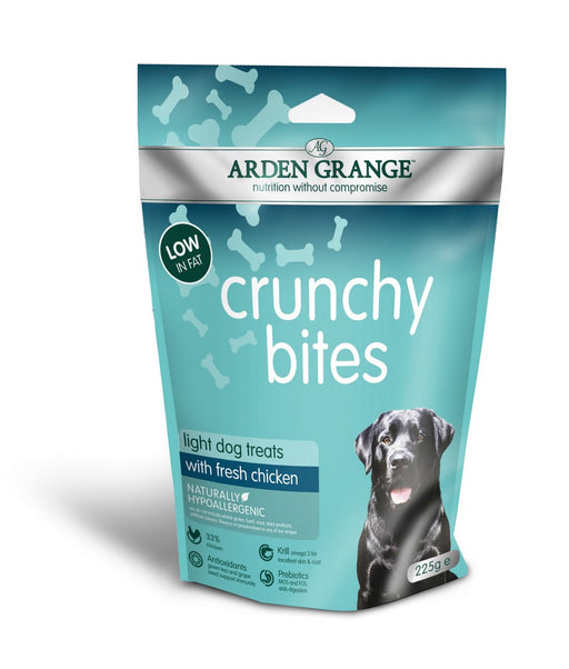 Arden Grange Crunchy Bites Light Dog Treats - Chicken - 225g - PetMonkey