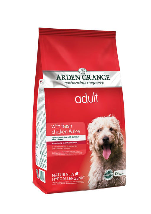 Arden Grange Hypoallergenic Adult Dry Dog Food - Chicken & Rice - 12kg - PetMonkey