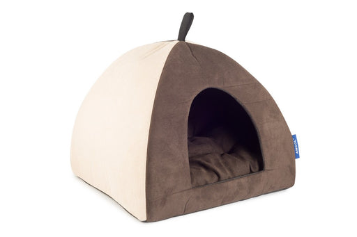 Ancol Timberwolf Faux Suede Pyramid Cat Bed - PetMonkey