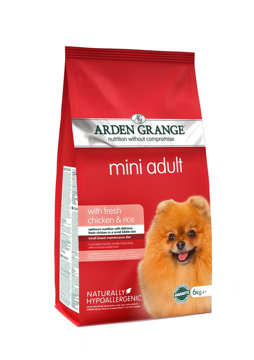 Arden Grange Hypoallergenic Mini Breed Adult Dry Dog Food - Chicken & Rice - 6kg - PetMonkey