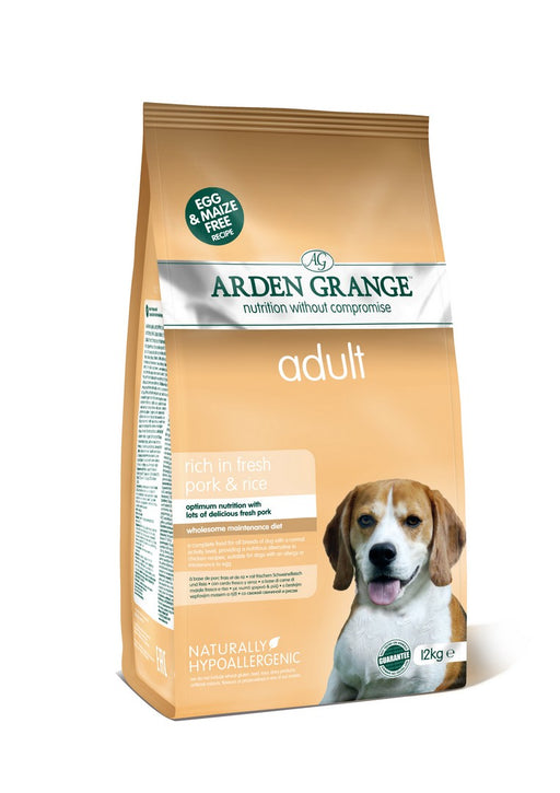 Arden Grange Hypoallergenic Adult Dry Dog Food - Pork & Rice - 12kg - PetMonkey