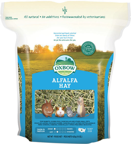 Petlife Oxbow Alfalfa Hay For Small Pets - 425g - PetMonkey