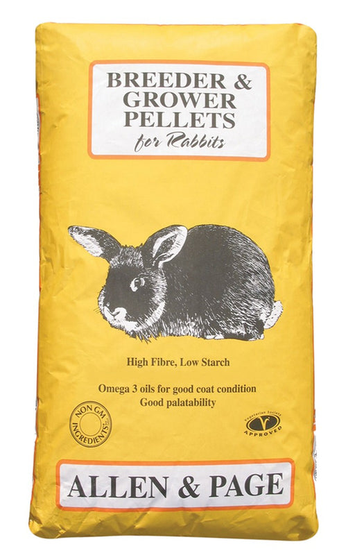 Allen & Page Breeder & Grower Rabbit Pellets - 20kg - PetMonkey