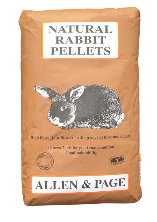 Allen & Page Natural Rabbit Pellets - 20kg - PetMonkey