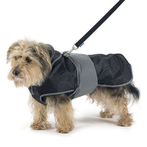 Ancol 2 In 1 Harness Dog Coat - Black - S / M / L / XL / XXL - PetMonkey