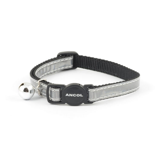 Ancol Gloss Reflective Safety Cat Collar - Silver / Red / Blue - PetMonkey