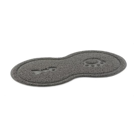 Ancol Paw & Fish Cat Feeding Mat - Grey - PetMonkey