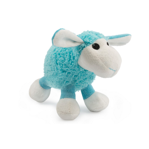 Ancol Plush Lamb Dog Toy - Blue / Lilac / Black - PetMonkey