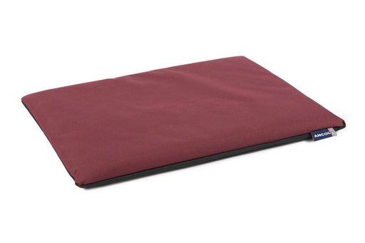 Ancol Waterproof Pad Dog Bed - Burgundy / Black - PetMonkey