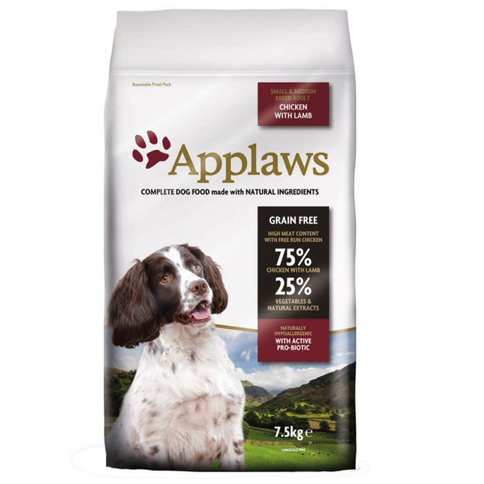 Applaws Small & Medium Breed Adult Dry Dog Food - Chicken with Lamb - 7.5kg - PetMonkey