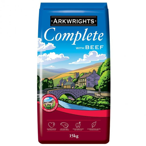 Arkwrights Complete Adult Dry Dog Food - Beef - 15kg - PetMonkey