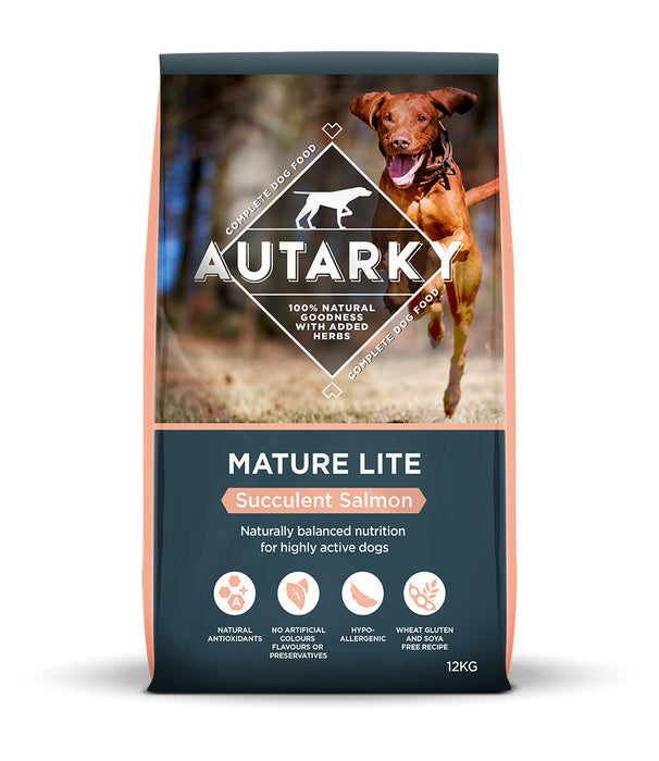 Autarky Mature Lite Hypoallergenic Dry Dog Food - Succulent Salmon - 12kg - PetMonkey
