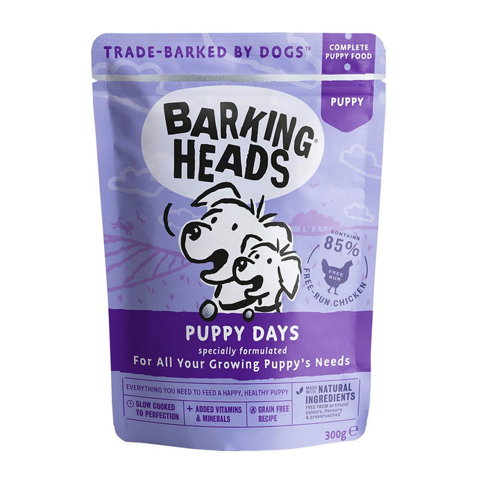 Barking Heads Puppy Wet Dog Food - Puppy Days - 10 x 300g - PetMonkey