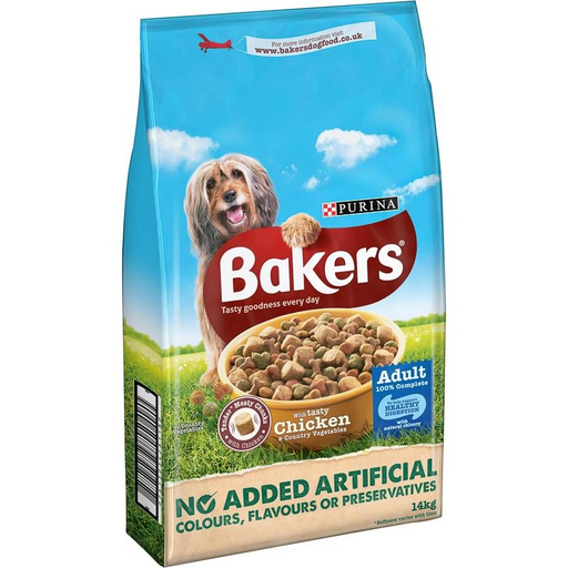 Bakers Complete Adult Dry Dog Food - Chicken & Vegetables - 14kg - PetMonkey
