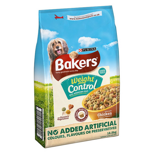 Bakers Complete Adult Weight Control Dry Dog Food - Chicken & Vegetables - 12.5kg - PetMonkey