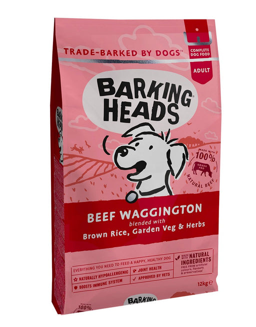 Barking Heads Adult Dry Dog Food - Beef Waggington - 12kg - PetMonkey