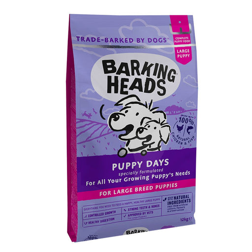Barking Heads Puppy Days Large Breed Puppy Dry Dog Food - 12kg - PetMonkey