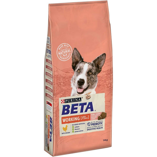 Beta Adult Active Working Dry Dog Food - Chicken - 14kg - PetMonkey