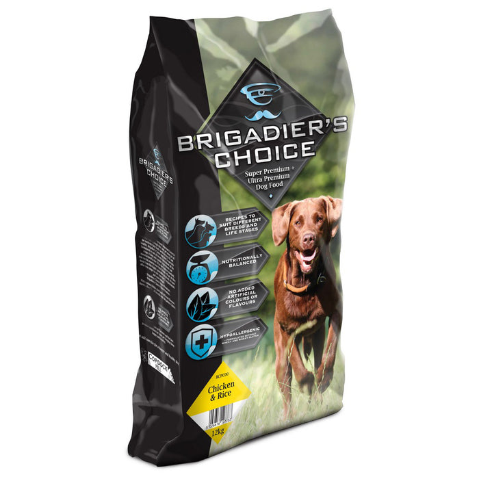 Brigadiers Choice Adult Dry Dog Food - Chicken & Rice - 12kg - PetMonkey