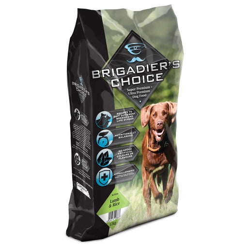 Brigadiers Choice Adult Dry Dog Food - Lamb & Rice - 12kg - PetMonkey