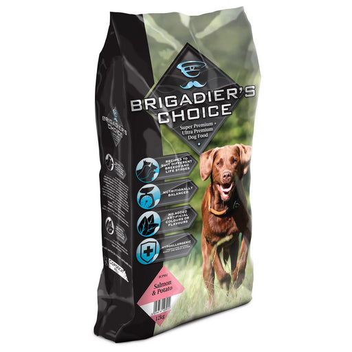 Brigadiers Choice Adult Dry Dog Food - Salmon & Potato - 12kg - PetMonkey