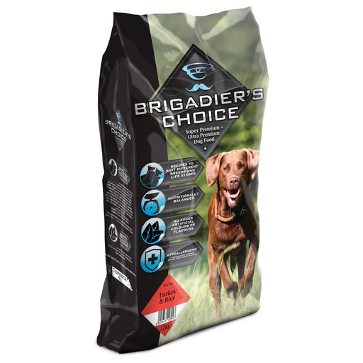 Brigadiers Choice Adult Dry Dog Food - Turkey & Rice - 12kg - PetMonkey