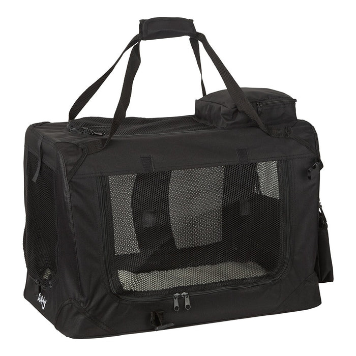 Bunty Fabric Pet Carrier - Black - M - PetMonkey
