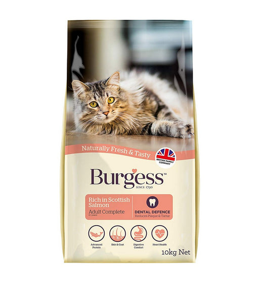 Burgess Active Dry Cat Food - Salmon - 10kg - PetMonkey