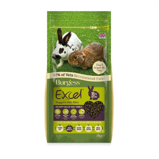 Burgess Excel Adult Rabbit Food - 2kg - PetMonkey