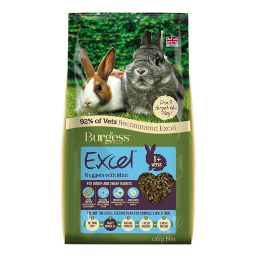Burgess Excel Junior & Dwarf Rabbit Food - 10kg - PetMonkey