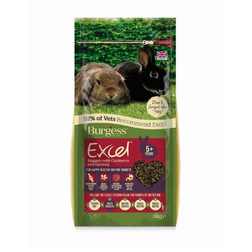 Burgess Excel Mature Rabbit Food - 2kg - PetMonkey