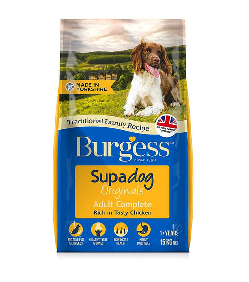 Burgess Supadog Adult Dry Dog Food - Chicken - 15kg - PetMonkey