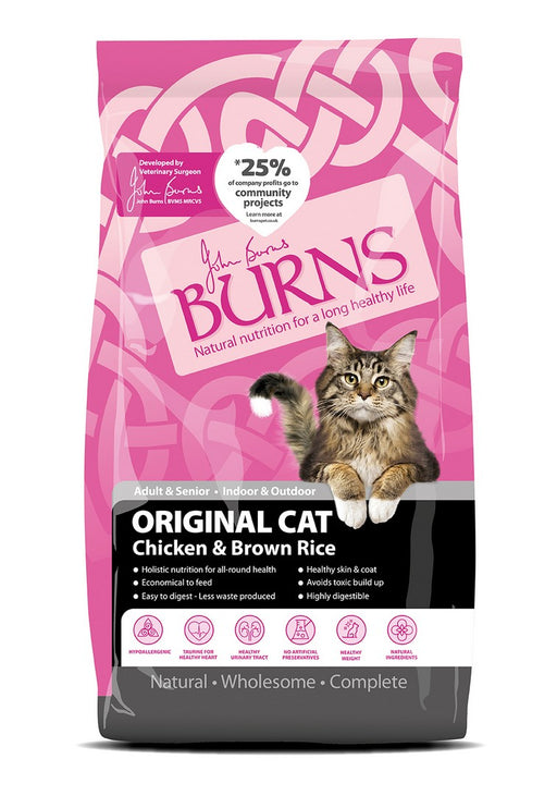 Burns Original Adult Dry Cat Food - Chicken & Brown Rice - 5kg - PetMonkey