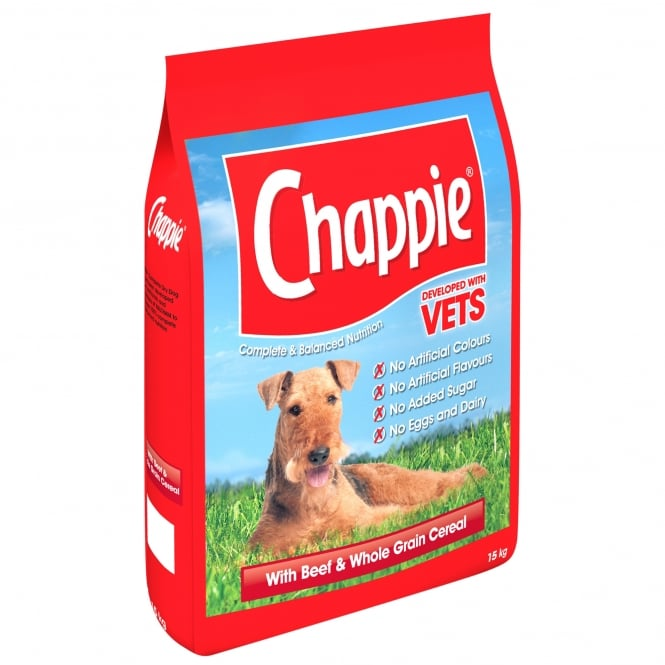Chappie Complete Dry Dog Food - Beef & Wholegrain - 15kg - PetMonkey