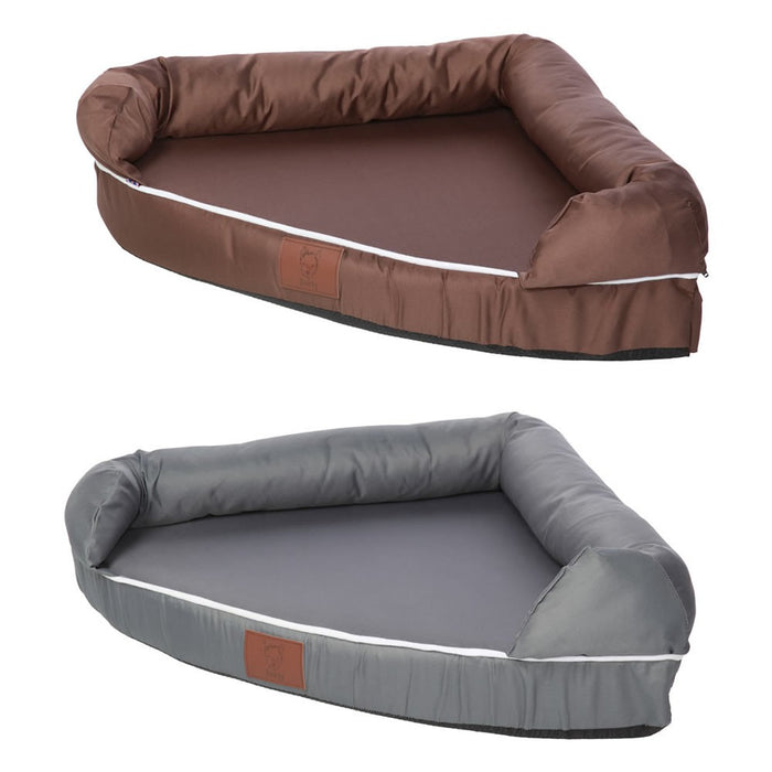 Bunty Cosy Corner Couch Dog Bed - Brown - L - PetMonkey