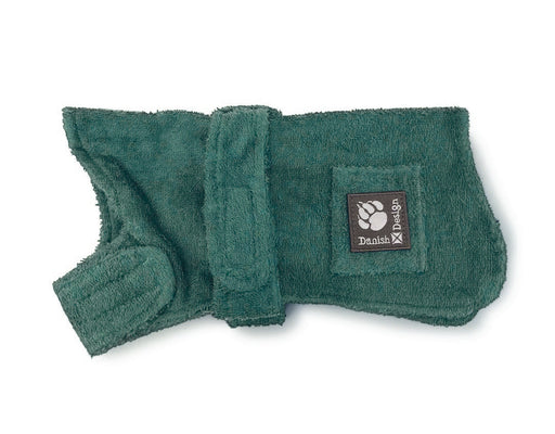 "Danish Design Dog Robe - Green - 50cm/20"" - PetMonkey"
