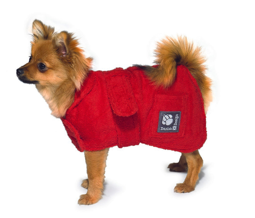 "Danish Design Dog Robe - Red - 40cm/16"" - PetMonkey"