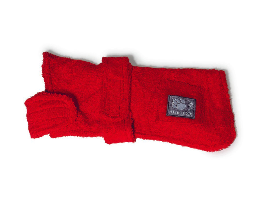 "Danish Design Dog Robe - Red - 60cm/24"" - PetMonkey"