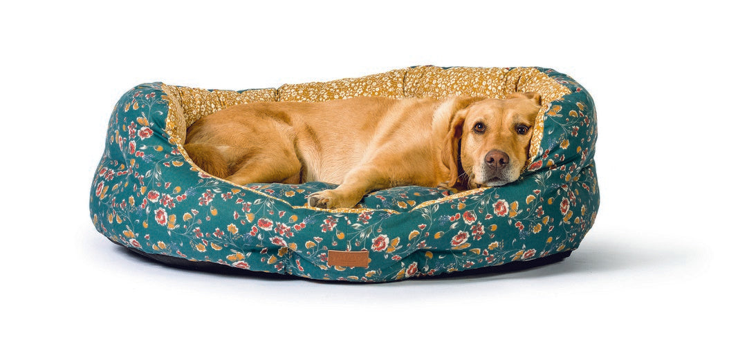 Danish Design FatFace Meadow Floral Deluxe Slumber Dog Bed - L - PetMonkey