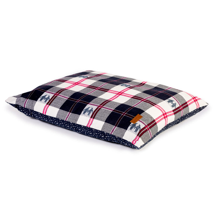 Danish Design FatFace Penguin Check Duvet Dog Bed - M - PetMonkey