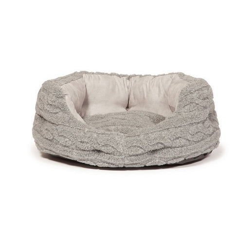Danish Design Deluxe Bobble Slumber Dog Bed - Pewter - M - PetMonkey