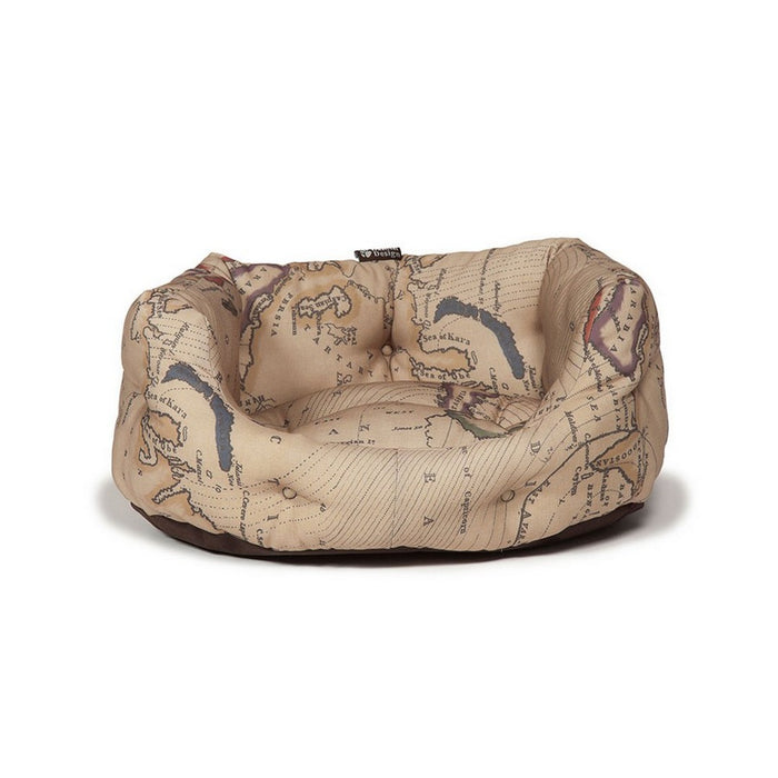 Danish Design Deluxe Vintage Slumber Dog Bed - Maps - XL - PetMonkey
