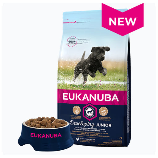 Eukanuba Developing Junior Large Breed Dry Dog Food - Chicken - 12kg - PetMonkey