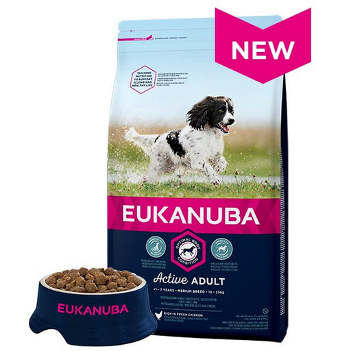 Eukanuba Medium Breed Dry Dog Food - Chicken - 12kg - PetMonkey