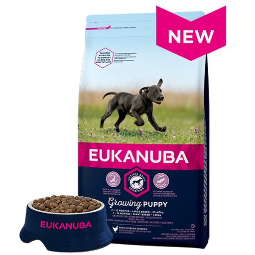 Eukanuba Puppy Large Breed Dry Dog Food - Chicken - 12kg - PetMonkey