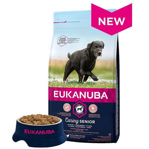 Eukanuba Caring Senior Large Breed Dry Dog Food - Chicken - 12kg - PetMonkey