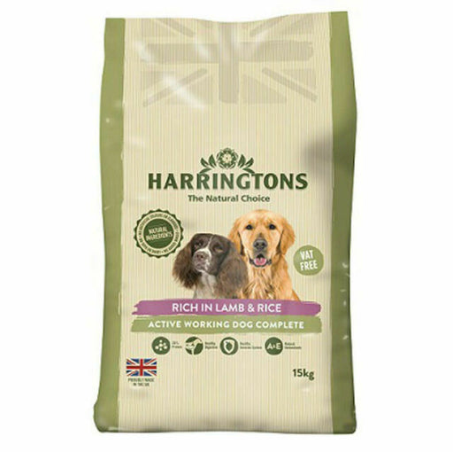 Harringtons Active Worker Dry Dog Food - Lamb & Rice - 15kg - PetMonkey